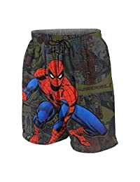 OINUNTN Swim Trunks Cool Spider-Man Quick Dry Beach Board Shorts Bathing Suit with Side Pockets for Teen Boys