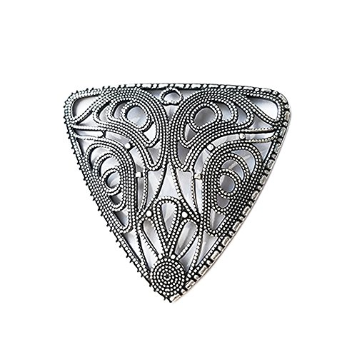 Mesmerize Silver Filigree Finding-Tarnish Free Fine Silver Plated. 40mm. Kabela Design Pendant, Connector, Reducer. Lead Nickel Free, Jewelry Making ()