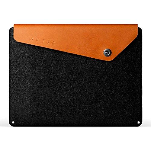 Felt Ipad Wool - Mujjo Leather Sleeve compatible with 13