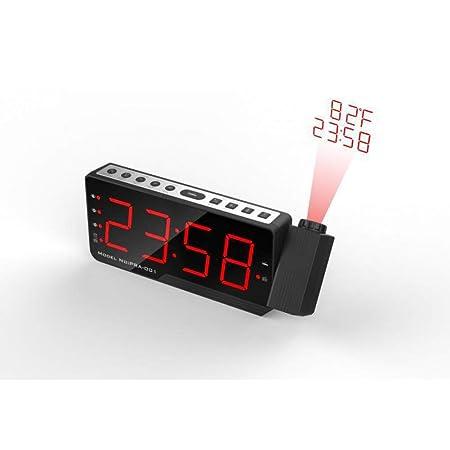 YJFNZ Reloj Despertador Digital Proyecto De Escritorio De Mesa De ...