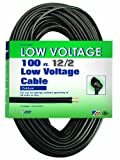 Coleman Cable Low Voltage Outdoor Lighting Cable (100 Ft, 12/2 gauge, Black)
