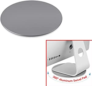 360° Aluminum Rotation Monitor Swivel Stand for Apple iMac All in one Computer Dock Laptop Screen Base Disply Rotating Mount