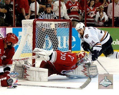 Cam Ward - 2006 Stanley Cup/Game 7 Game Winning Save (#33) - 10x8 Inches - Art Print Poster