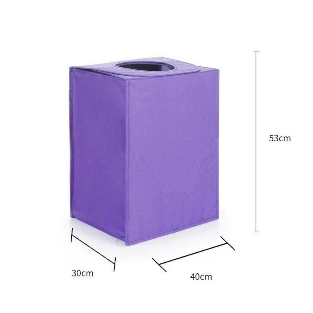 TSAR003 Large Oxford Cloth Can Be Folded With Lid Laundry Hamper Or Basket Dirty Clothes Toy Storage Barrels , Purple