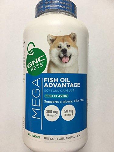 GNC Pets GNC Mega Fish Oil Advantage - Tasty Fish Flavor 180 Softgel Capsules