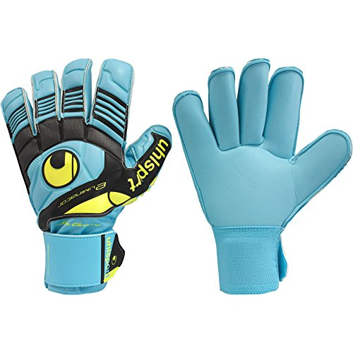 uhlsport Mens ELIMINATOR SOFT ROLL FINGER COMPETITION Goalkeeper Gloves For Soccer