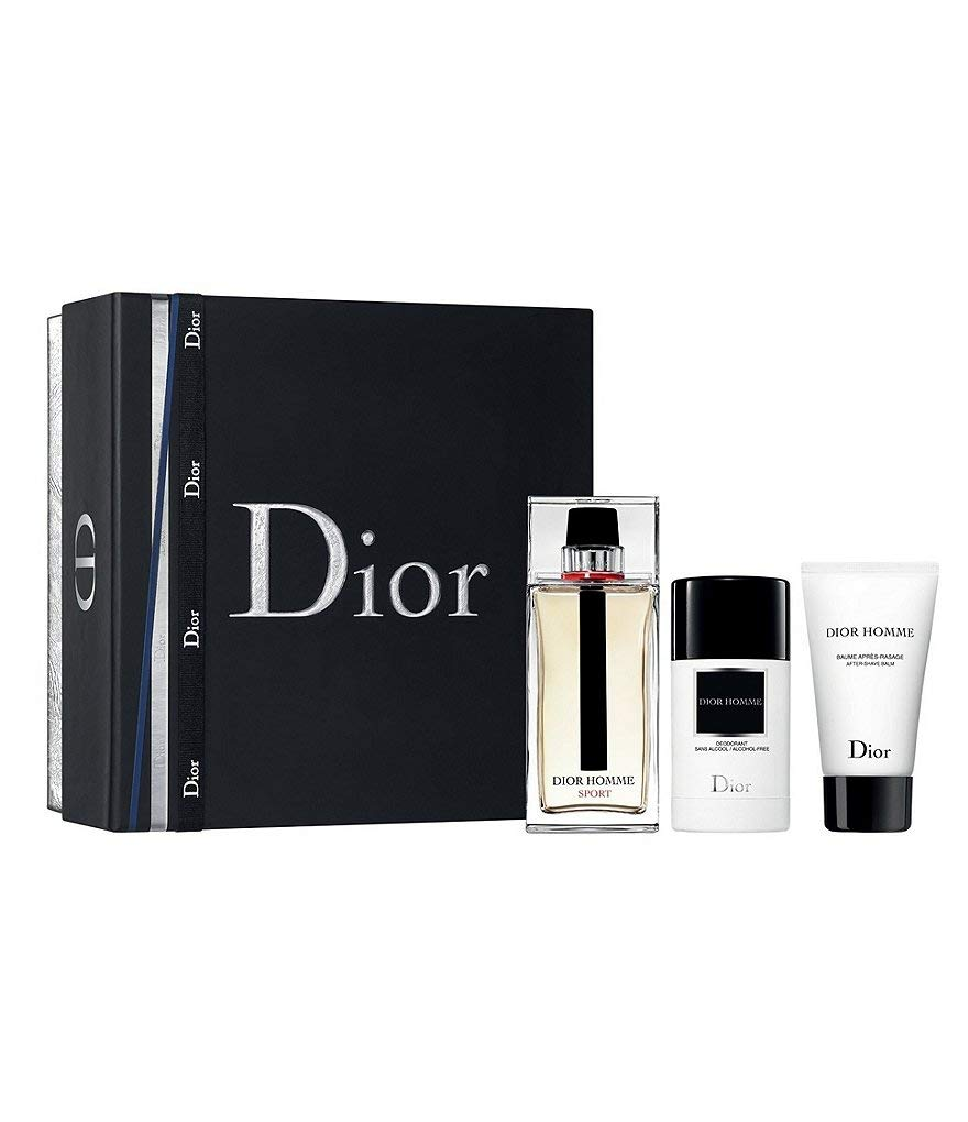 DIOR Homme Sport Eau De Toilette for Men 3 Piece Gift Set