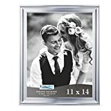 Icona Bay 11x14 Picture Frame (11 x 14, 1 Pack, Silver) Photo Frame, Wall Mount Hangers Deluxe Velvet Backing, Landscape as 14x11 Picture Frame or Portrait as 11x14, Elegante Collection