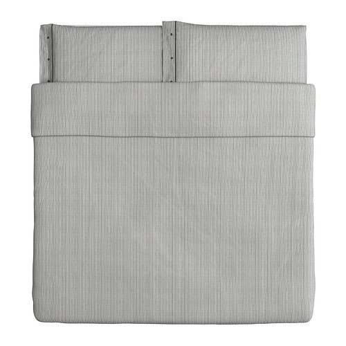 Ikea Nyponros Duvet Cover and Pillowcase, Gray, - Duvet Ikea Cover King Size