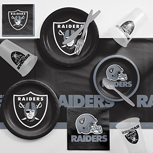 (Creative Converting Oakland Raiders Game Day Party Supplies Kit, Serves)