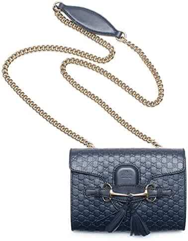 Gucci Micro Guccissima Margaux Navy Blue Leather Shoulder Handbag Bag New  Small 6d47ee0c9d1ad