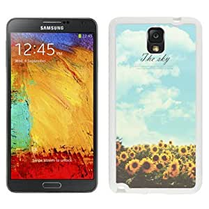 NEW Unique Custom Designed For Case HTC One M7 Cover Phone Case With Sunflower Sky Keep Shining_White Phone Case