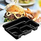 4 Piece Kitchen Appliance Package Black Black 10Pcs Reusable Microwavable Lunch Box 4 Compartments Meal Prep Containers Plastic Food Storage Lunch Boxes With Lids Kit