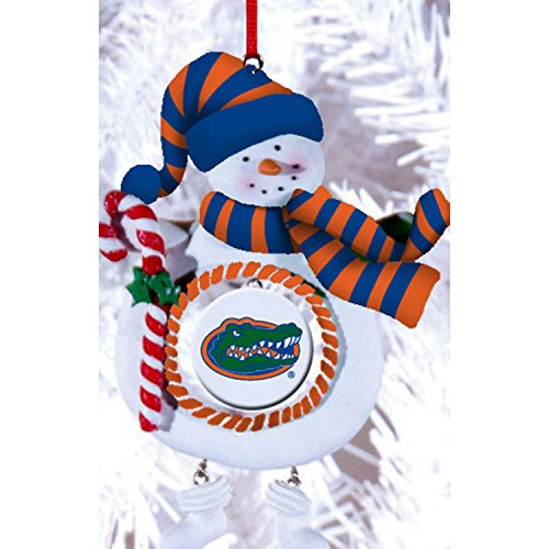 Florida Gators Snowman (Set of 2 NCAA University of Florida Gators Snowman Christmas Ornaments)