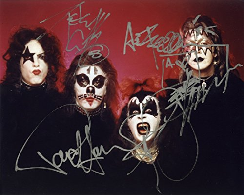 Kiss Signed Photo (Kiss Band Simmons, Stanley, Frehley, Criss Signed Autographed 8x10 Photo Authentic COA)