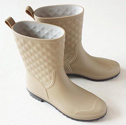 Short High Women's Apricot Boots Rubber Antiskid Rain Shoes Adult pEBZfwnqp