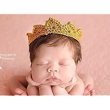 Newborn Crown, Baby Boy Girl Photo Prop, Gender Neutral Infant Photography Prop, Gold