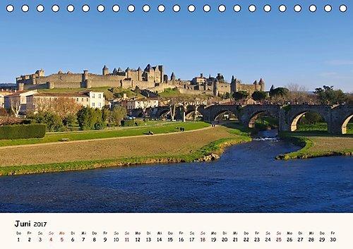 Cite von Carcassonne - Zeitreise ins Mittelalter Tischkalender 2017 DIN A5 quer : Mittelalterstadt im Süden Frankreichs Monatskalender, 14 Seiten: Amazon.es: Libros