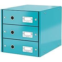LEITZ 60480051 - Buc de 3 cajones (290x283x360 mm) color turquesa