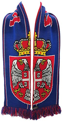 National Soccer Team Serbia International Soccer Scarf, Red, One Size
