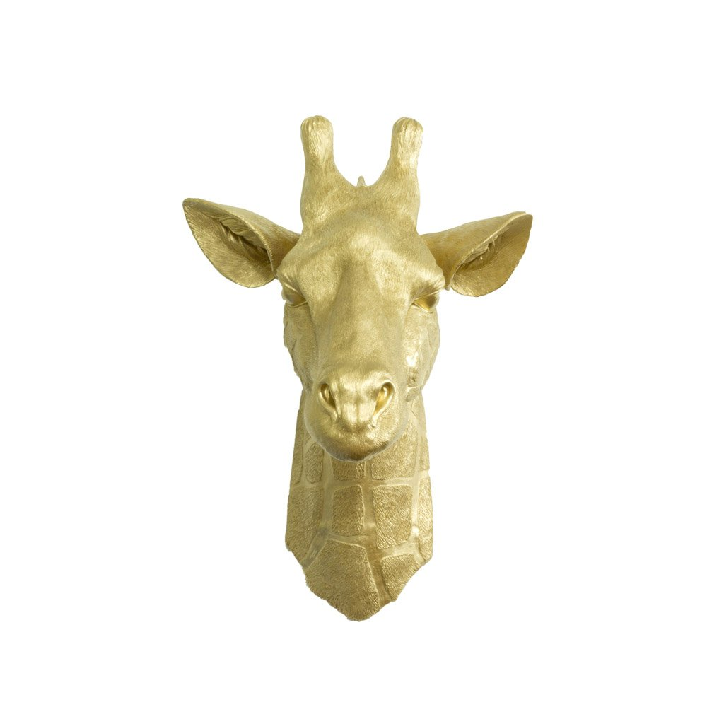 Amazon.com: Wall Charmers Faux Giraffe Head by Gold Fake Ceramic ...