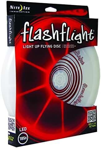 Nite Ize Flashflight LED Light Up Flying Disc, Glow in the Dark for Night Games, 185g
