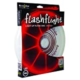 Nite Ize Flashflight LED Light Up Flying Disc, Glow in the Dark for Night Games, 185g, Red