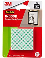 Scotch CAT111D Double Sided Mounting Square Tape, 25.4 mm x 25.4 mm