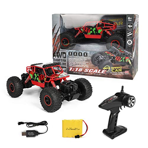 DDlong RC Car 4WD 2.4Ghz 1/18 Crawlers Off Road Vehicle Toy Remote Control Climbing Cars