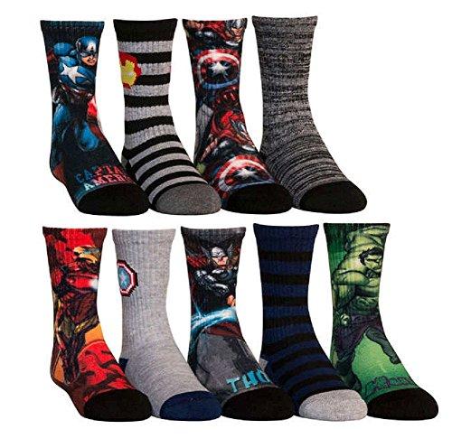 Kids Characters Socks, Disney Princess, Frozen , Star Wars, Avengers 9- Pairs (Large, Marvel Avengers) (Marvel Socks)