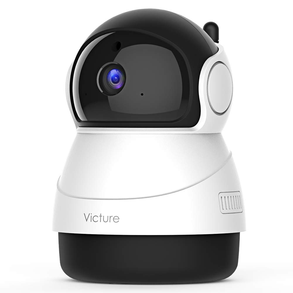 Victure 1080P FHD WiFi IP Camera Indoor Wireless Security Camera with Motion Detection Night Vision Home Surveillance Monitor with 2-Way Audio for Baby/Pet/Elder (1080P-W)