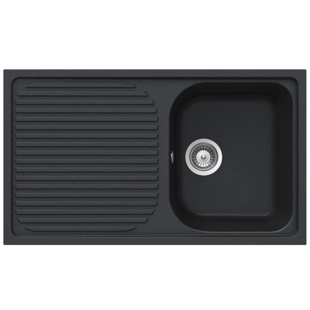 Schock Lithos D100 1.0 Bowl Granite Onyx Black Kitchen Sink & Waste