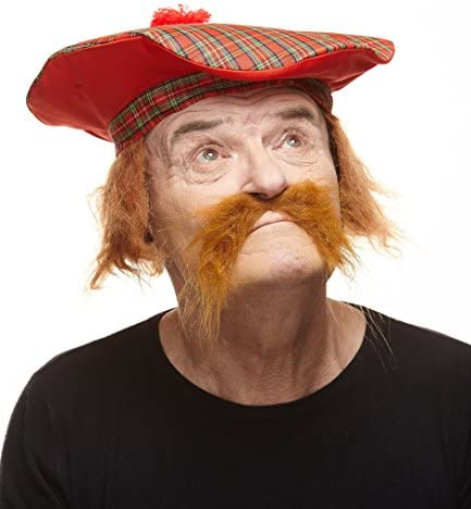 Black Facial Hair Beard Fake Moustache Halloween Costume Fancy Dress Part DKZ