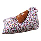 bestpriceam Kids Stuffed Animal Plush Toy Storage Bean Bag Soft Pouch Stripe Fabric Chair F