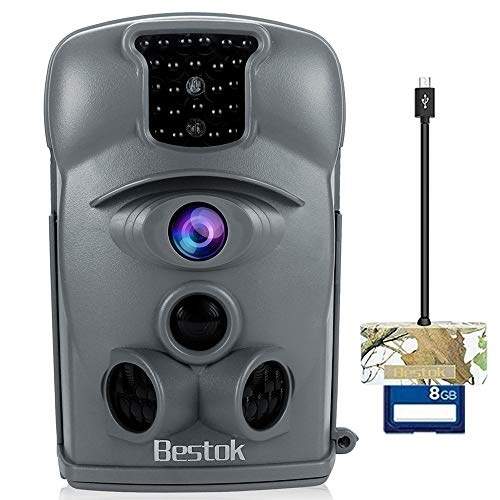Bestok Trail Camera 12MP 120° HD Game Camera Night Vision 65ft Waterproof IP54 Wildlife Protected...
