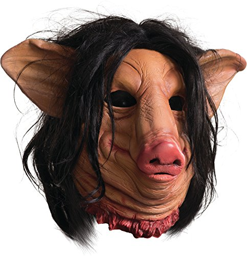Rubie's Men's Saw Pig Face Overhead Latex Mask, Multi, One Size (Halloween Costumes Saw Pig)