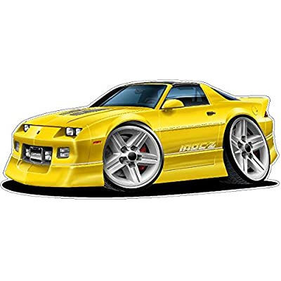 1982-1992 Camaro IROC Wall Decal Vintage 3D Car Movable Stickers Vinyl Wall Stickers for Kids Room: Baby