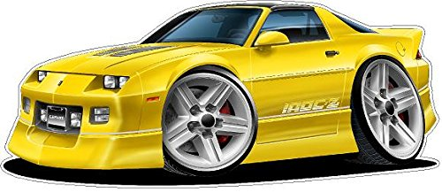Decal 1982 (1982-1992 Camaro IROC WALL DECAL Vintage 3D Car Movable Stickers Vinyl Wall Stickers for Kids Room)