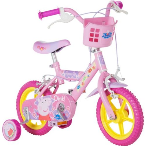 Official Peppa Pig Childrens Kids 12 Bicycle Stabilisers Puncture