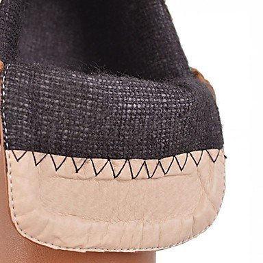 Casual Heels 4in Bowknot Winter Black Leatherette Heel Ruby amp;xuezi Beige Women's Comfort Low Gll Office Novelty Black 1in Spring 1 Bootie Career amp; 3 fEzwOqB