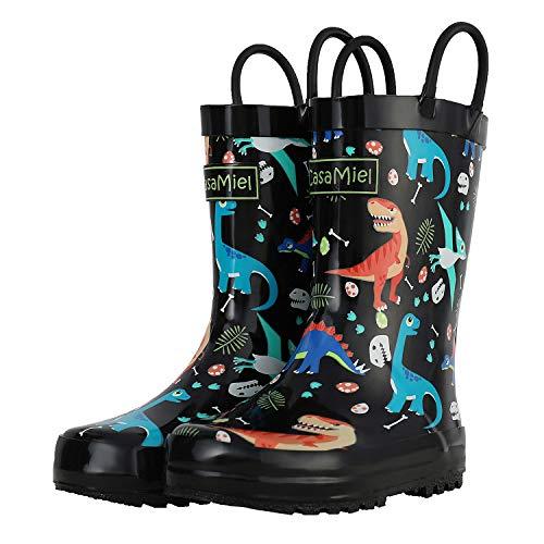 CasaMiel Kids Rain Boots for Toddlers Unisex Rain Boots for Boys&Girls, Handmade Natural Rubber Boots for Children (Rubber Boots For Rain Kids)