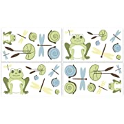 Leap Frog Wall Decal Stickers by Sweet Jojo Designs - Set of 4 Sheets
