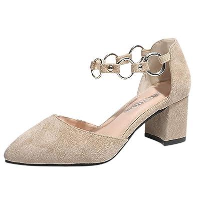9af99adbc5123f Chaussures Talons Epais Eté Femme Modaworld Femmes Mode Sexy Troupeau Mince  Partie de Cheville à Talons