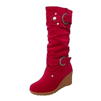 Schuhe Stiefel Damen Winterstiefel Lange Erhöht Winterschuhe 1 Paar 3 Farben