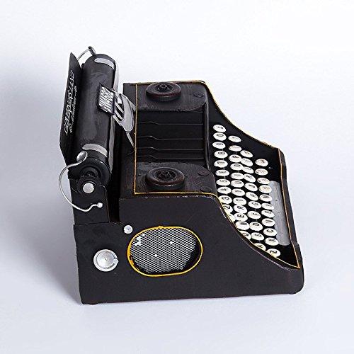 WYJ ornamentos de casa del café bar Vintage máquina de escribir vieja Vintage Medio Negro decorativo Decoración: Amazon.es: Hogar