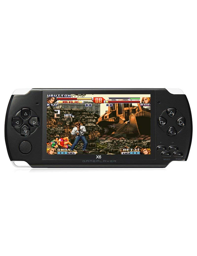 JXD 4.3 inch 8GB Handheld Portable Game Console Built in 1200+Real Video Games for gba/gbc/SFC/fc/SMD Games mp3/mp4/mp5/DV/DC Function (Black) by JXD (Image #6)