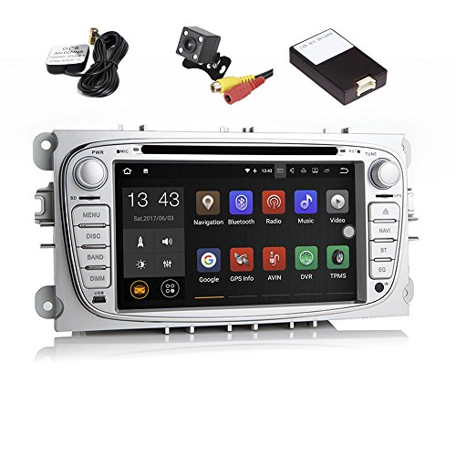 TOOPAI Android 7.1 Car Stereo Head Unit for Ford Mondeo 2008 2009 2010 2011, with DVD Player, GPS Navigation, and Multimedia System