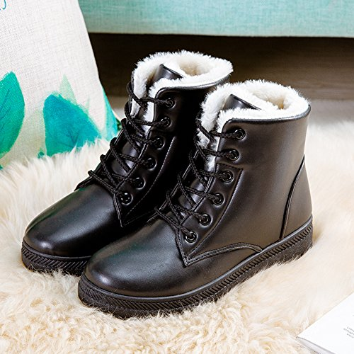 NOT100 Woman Waterproof Boot Size 11 Is OK (Warm Fur-Lined) (Lace Up) (2017 New Design)