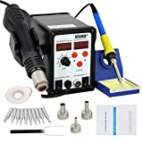 Best Soldering Stations - Smartxchoices 898D+ Digital Soldering Station Hot Air Rework Review