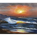 Canvas Prints Of Oil Painting ' Charming Sunset Seascape ' , 20 x 24 inch / 51 x 60 cm , High Quality Polyster Canvas Is For Gifts And Basement, Kids Room And Powder Room Decoration, sign printing